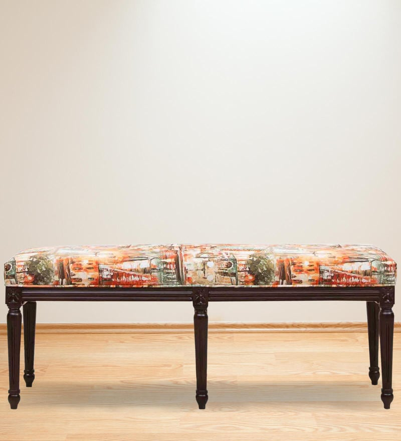 Lorraine Bench in  Abstract Print by Amberville