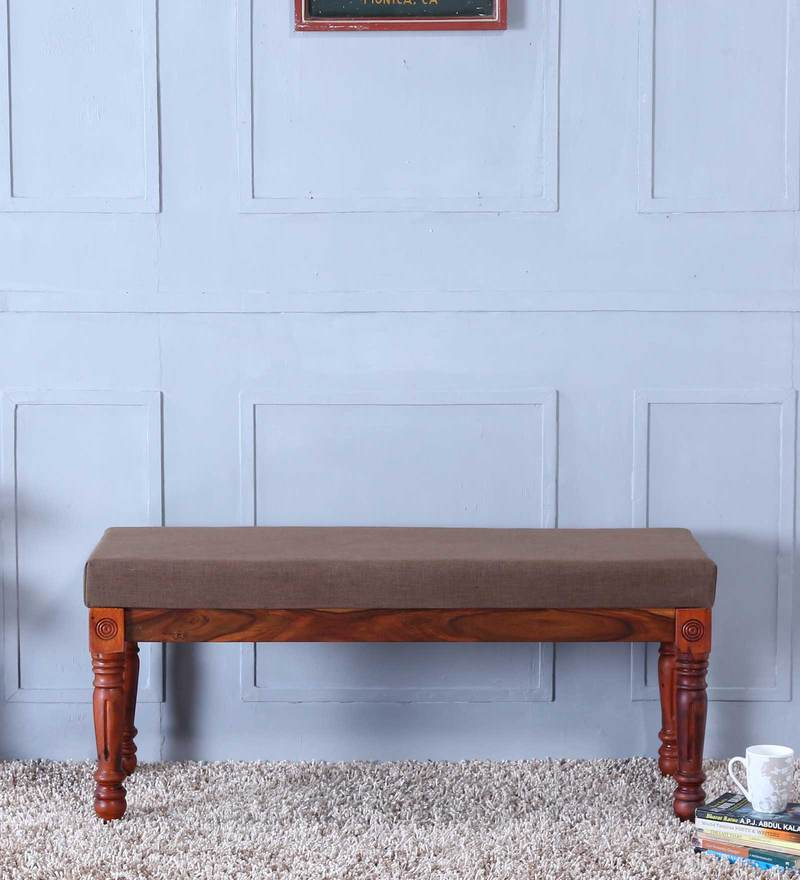 Louis Bench in Honey Oak Finish by Amberville