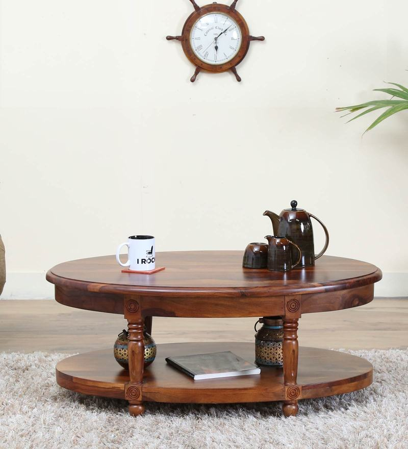 Louis Coffee Table in  Honey Oak Finish by Amberville