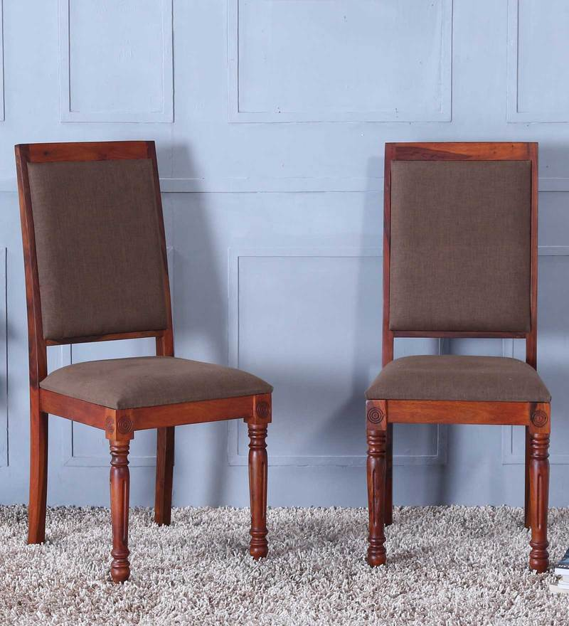 Louis Dining Chair (Set of 2) in Honey Oak Finish by Amberville