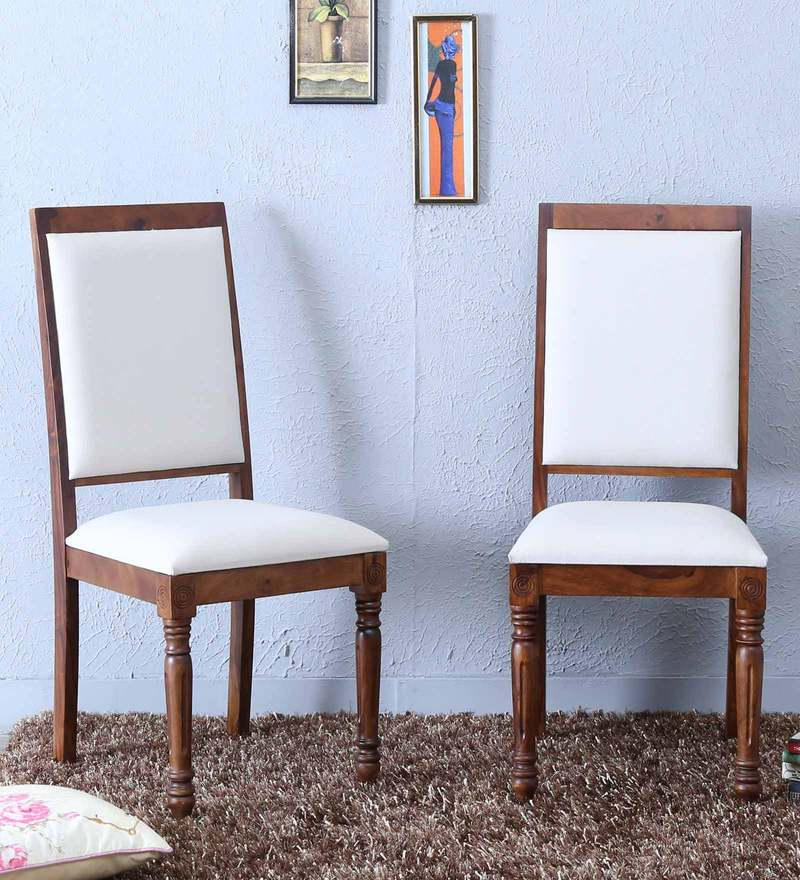 Louis Dining Chair (Set of Two) in Provincial Teak Finish by Amberville