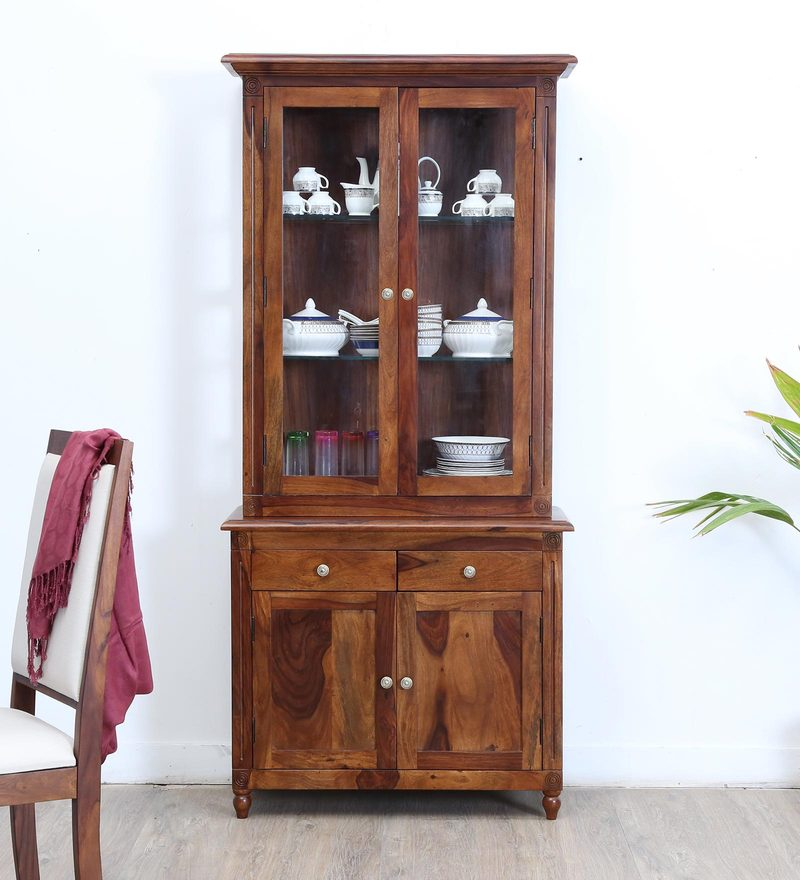 Louis Hutch Cabinet in Provincial Teak Finish by Amberville