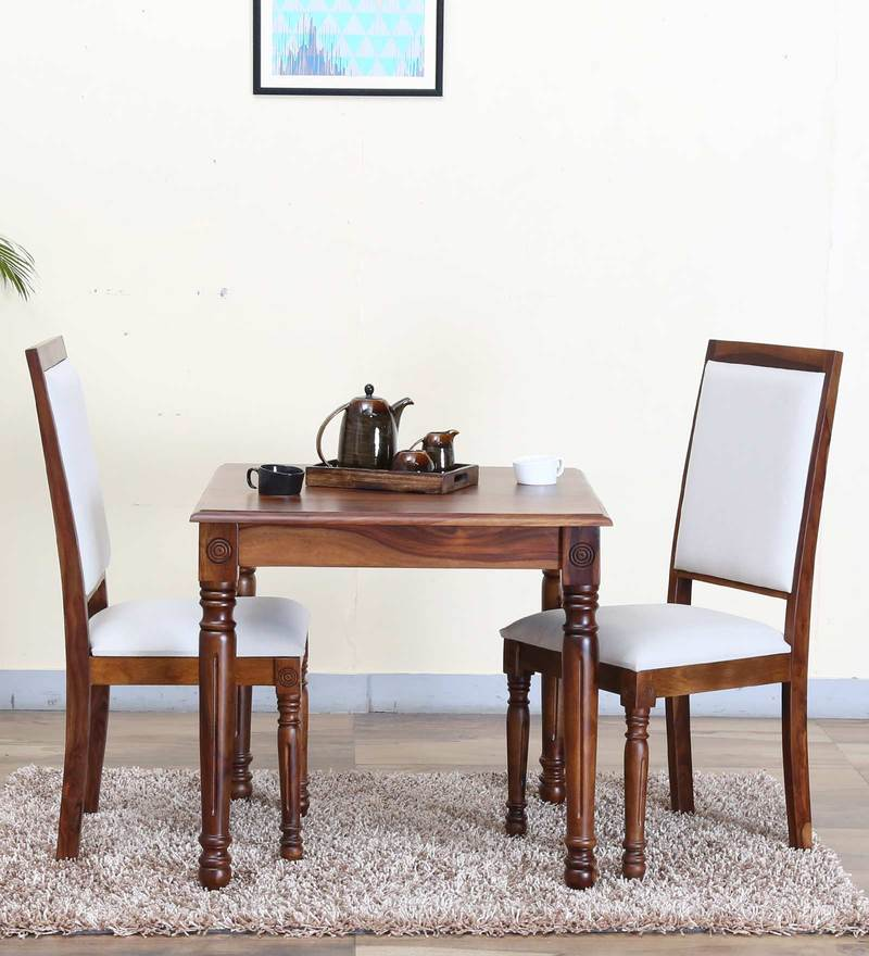 Louis Two Seater Dining Set in Provincial Teak Finish by Amberville