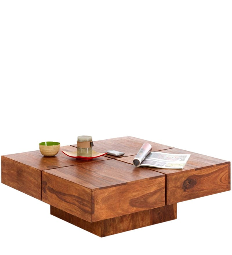 Buy low height solid coffee table by wood dekor online - How tall is a coffee table ...