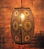 Zellige Long Morrocan Copper Hanging Lamp by Logam