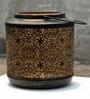 Rio Rustic Black with Gold Metal Lantern by Logam