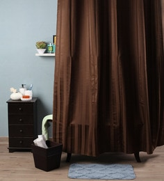 Lushomes Brown Polyester 82 X 72 Shower Curtain