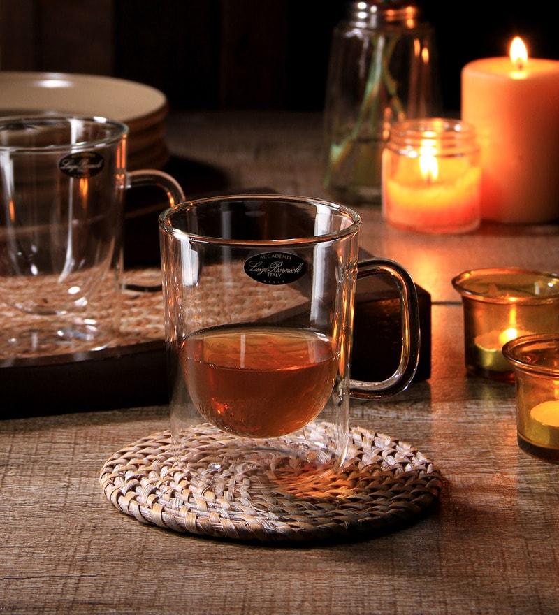 Luigi Bormioli Caffe Arom Thermic Glass 300 ML Cup - Set of 2
