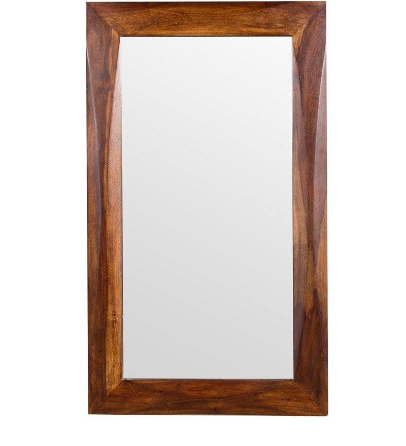 Luna Sheesham Wood Mirror Frame in Provincial Teak Finish by Woodsworth