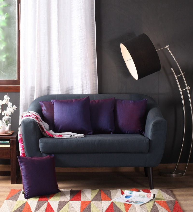 Lushomes Purple Polyester 16 x 16 Inch Cushion Covers - Set of 5