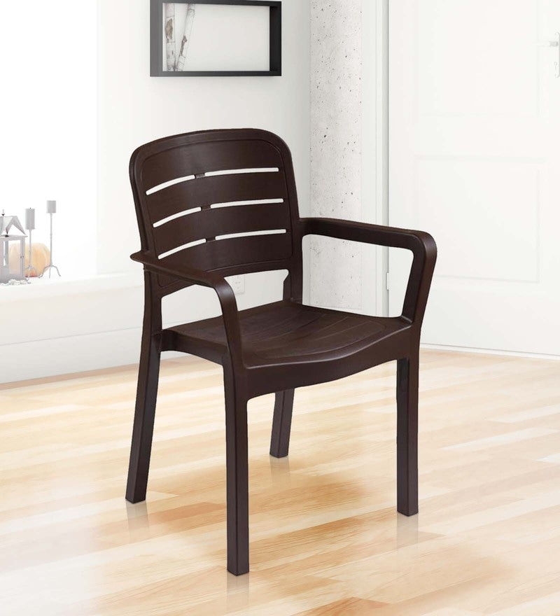 Luxury Plastic Chair in Brown Colour by Italica Furniture