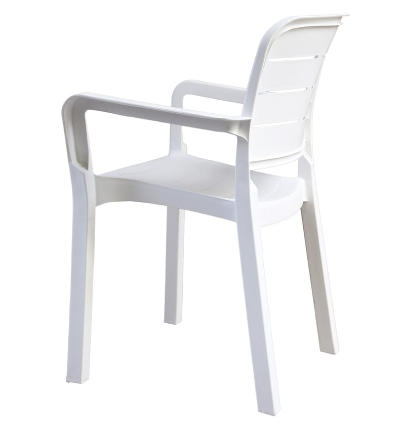 Buy Luxury Plastic Chair In White Colour By Italica Online