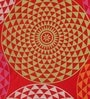 Lushomes 6 Seater Small Spiral Red Cotton Table Cloth