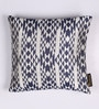 Lushomes Blue Polyester 16 x 16 Inch Jacquard Cushion Covers - Set of 2