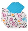 Lushomes Flower Printed Multicolour Cotton Placemat & Napkin - Set of 12