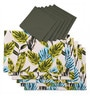 Lushomes Forest Printed Multicolour Cotton Placemat & Napkin - Set of 12