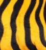 Lushomes Golden Yellow Polyester 12 x 12 Inch Zebra Skin Printed Cushion Covers - Set of 2
