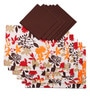 Lushomes Leaf Printed Multicolour Cotton Placemat & Napkin - Set of 12