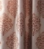 Multicolour Jacquard 54 x 90 Inch Door Curtains with Lining - Set of 2 by Lushomes
