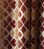 Multicolour Jacquard 54 x 90 Inch Solid Door Curtains with Eyelets -1 Piece by Lushomes