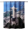 Lushomes Multicolour Polyester 82 x 72 Christ The Redeemer Shower Curtain