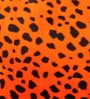 Lushomes Orange Polyester 12 x 12 Inch Leopard Skin Printed Cushion Covers - Set of 3