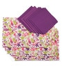 Lushomes Rain Printed Multicolour Cotton Placemat & Napkin - Set of 12