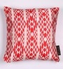 Lushomes Red Polyester 16 x 16 Inch Jacquard Cushion Covers - Set of 2