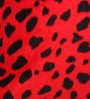 Lushomes Red Polyester 16 x 16 Inch Leopard Skin Printed Cushion Covers - Set of 2