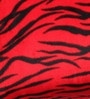 Lushomes Red Polyester 16 x 16 Inch Tiger Skin Printed Cushion Covers - Set of 2