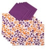 Lushomes Shadow Printed Multicolour Cotton Placemat & Napkin - Set of 12