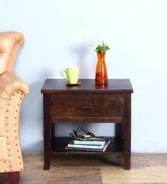 Lynnwood Bed Side Table In Warm Chestnut Finish By Woodsworth