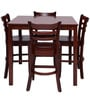 Lydon Four Seater Dining Set in Brown Colour by Evok