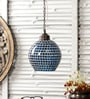 M K Lighting Blue Glass Pendant