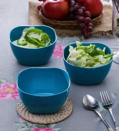 Machi Blue Melamine 900 ML Small Serving Bowl - Set Of 6