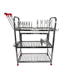 Maharaja Modern Regular Stainless Steel Kitchen Dish Rack