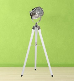 Marical Silver Metal Floor Tripod