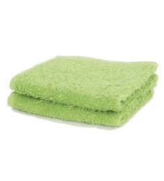Maspar Green 100% Cotton 12 X 12 Inch Waltz Bequiling Print Face Towel Set - Set Of 4