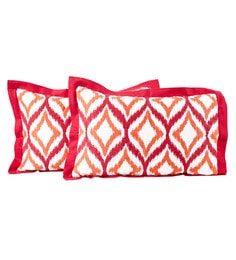 Red 100% Cotton 20 X 30 Inch Spring Solitaire Smart Fuzz Pillow Covers - Set Of 2