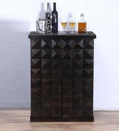 mayville large bar cabinet in warm chestnut finish