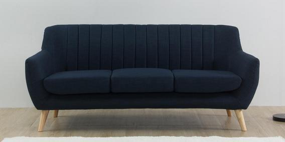 Managua Three Seater Sofa In Blue Colour