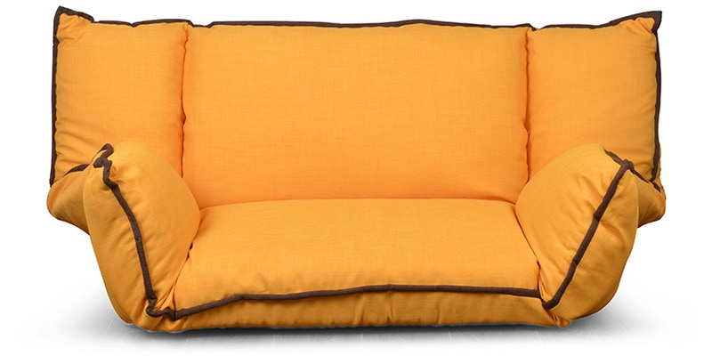 Buy Macau Floor Sofa In Mustard Yellow Colour By Home