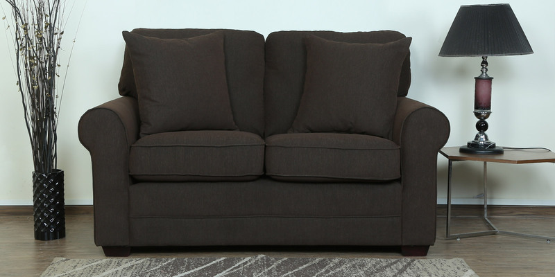 Madeira Two Seater Sofa in Chestnut Brown Colour by CasaCraft