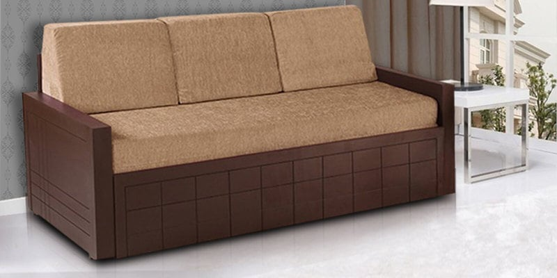 Madelyn Sofa Cum Bed in Brown Colour by Auspicious Home