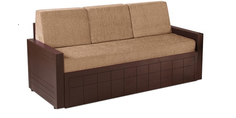 Buy madelyn sofa cum bed in brown colour by auspicious for Sofa bed 400