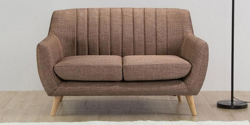 Managua Two Seater Sofa in Coyote Colour by CasaCraft