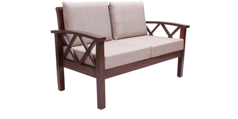 Buy Mariana 2 Seater Sofa In Fresh Walnut Finish By Finesse Online