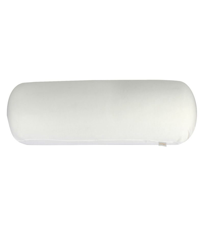 White Memory Foam 24 x 8 Inch Round Big Bolster Insert by Magasin