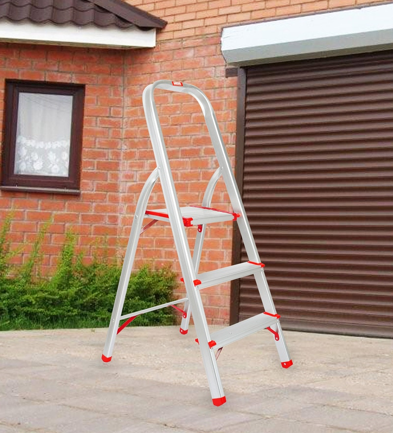 Magna Aluminium 3 Steps 2.3 FT Light Weight High Strength Ladder