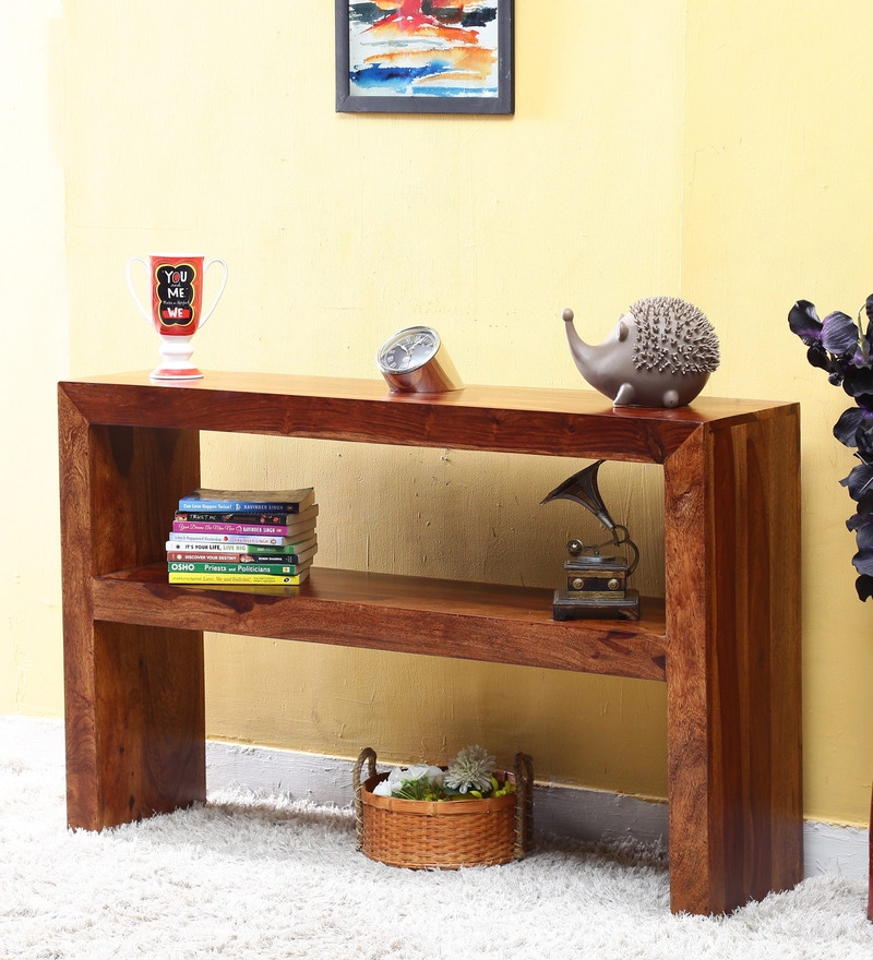 Buy Lacanoia Console Table In Provincial Teak Finish By Woodsworth